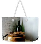Straw Hat And Hat Box Weekender Tote Bag