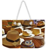 Straw Hats Weekender Tote Bag