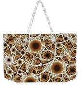 Straw Mosaic Weekender Tote Bag