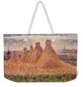 Straw Stacks Weekender Tote Bag by Georges Pierre Seurat