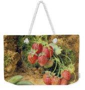 Strawberries And Peas Weekender Tote Bag by John Sherrin