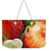Strawberries And Vanilla Weekender Tote Bag