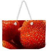 Strawberries Background Weekender Tote Bag