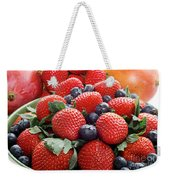 Strawberries Blueberries Mangoes - Fruit - Heart Health Weekender Tote Bag