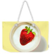 Strawberry And Cream Weekender Tote Bag