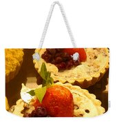 Strawberry Blueberry Tarts Weekender Tote Bag