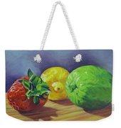 Strawberry Citrus Weekender Tote Bag