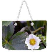 Strawberry Flower Weekender Tote Bag