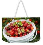 Strawberry Harvest Weekender Tote Bag