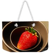 Strawberry In Nested Bowls Weekender Tote Bag