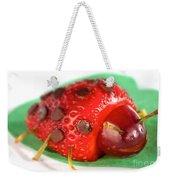 Strawberry Ladybug Weekender Tote Bag