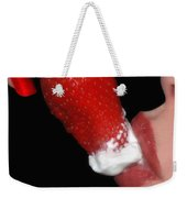 Strawberry Lips And Cream Weekender Tote Bag