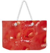 Strawberry Macro Weekender Tote Bag
