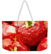Strawberry Mosaic Weekender Tote Bag