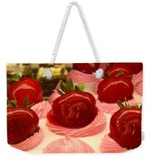 Strawberry Mousse Weekender Tote Bag