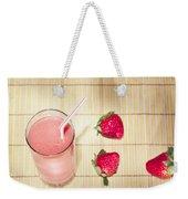 Strawberry Smoothie Weekender Tote Bag