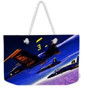 Streaking Blues Weekender Tote Bag by Benjamin Yeager