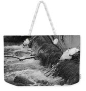 Stream Cascades Over Small Dam Weekender Tote Bag