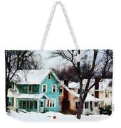 Street After Snow Weekender Tote Bag