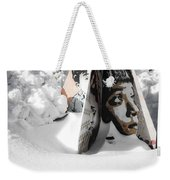 Street Art In The Snow Weekender Tote Bag