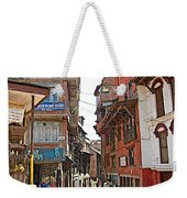 Street In Bhaktapur-city Of Devotees-nepal  Weekender Tote Bag