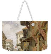 Street In Bombay, From India Ancient Weekender Tote Bag
