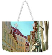 Street In Old Town Tallinn-estonia Weekender Tote Bag
