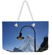 Street Lamp And Mountain Weekender Tote Bag by Mats Silvan