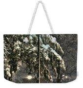 Street Lamp In The Snow Weekender Tote Bag by Benanne Stiens