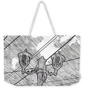 Street Lamps And Straight Lines Weekender Tote Bag
