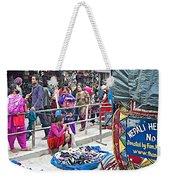 Street Market View From A Rickshaw In Kathmandu Durbar Square-nepal Weekender Tote Bag