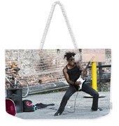 Street Musician Milan Italy Weekender Tote Bag