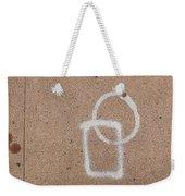 Street Painting With Leaf Weekender Tote Bag