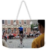 Street Performer Faneuil Hall Market Boston Weekender Tote Bag