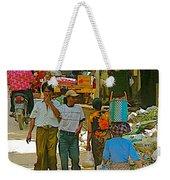 Street Scene In Tachilek-burma Weekender Tote Bag