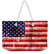 Street Star Spangled Banner Weekender Tote Bag by Delphimages Photo Creations
