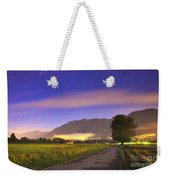 Street With A Tree And Mountain Weekender Tote Bag