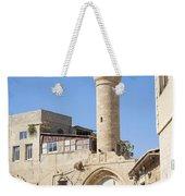 Street With Minaret In Tel Aviv Israel Weekender Tote Bag
