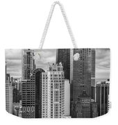 Streeterville From Above Black And White Weekender Tote Bag