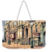 Streets Of Old New York City Watercolor Weekender Tote Bag