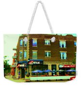 Streets Of Pointe St Charles Centre And Charlevoix Summer La Chic Regal Pub Scenes Carole Spandau Weekender Tote Bag