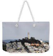 Streets Of San Francisco With Coit Tower Weekender Tote Bag