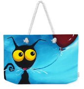 Stressie Cat And Her Love Balloon Weekender Tote Bag