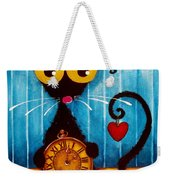 Stressie Cat And The Tick Tock Weekender Tote Bag
