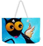Stressie Cat Angel Weekender Tote Bag