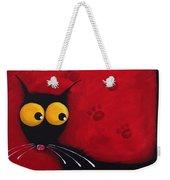 Stressie Cat Weekender Tote Bag
