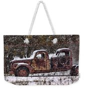 Stretch Limo In The Blizzard Weekender Tote Bag