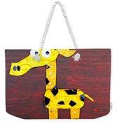Stretch The Giraffe License Plate Art Weekender Tote Bag