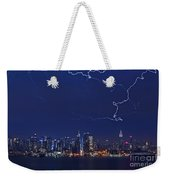 Strikes And Bolts In Nyc Weekender Tote Bag