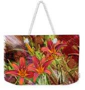 Striking Daylilies - Digital Art Weekender Tote Bag